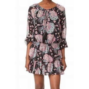 LoveShackFancy Black Dress, Moody Floral Print